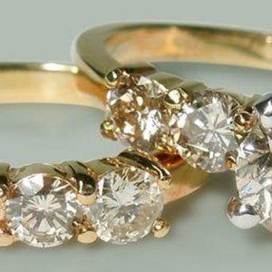 3.51 ct round diamonds wedding ring  band set yell